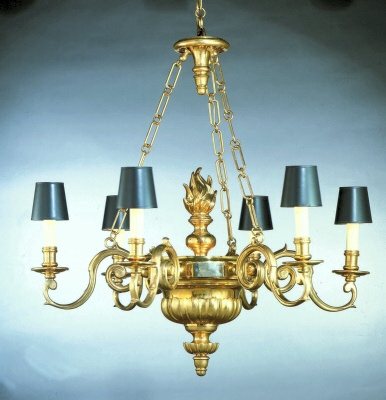 Williamsburg six arm chandelier chapman manufacturing for Williamsburg style lighting